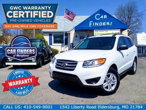 2012 Hyundai Santa Fe for sale at CAR FINDERS OF MARYLAND LLC - Certified Cars in Eldersburg MD