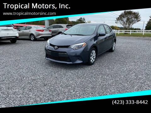 2016 Toyota Corolla for sale at Tropical Motors, Inc. in Riceville TN