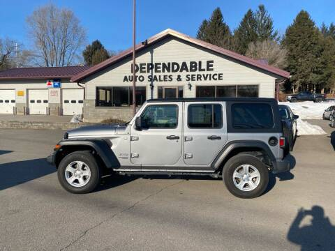 2019 Jeep Wrangler Unlimited for sale at Dependable Auto Sales and Service in Binghamton NY