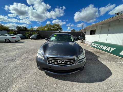 2011 Infiniti M37 for sale at SOUTHWAY MOTORS in Houston TX