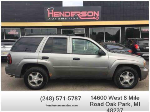 2007 Chevrolet TrailBlazer for sale at Henderson Automotive, LLC in Oak Park MI