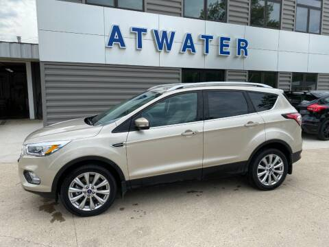 2018 Ford Escape for sale at Atwater Ford Inc in Atwater MN