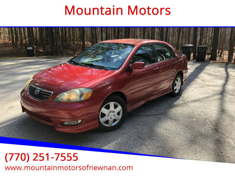 2008 Toyota Corolla for sale at Mountain Motors in Newnan GA