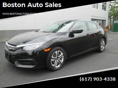 2016 Honda Civic for sale at Boston Auto Sales in Brighton MA