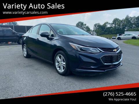 2016 Chevrolet Cruze for sale at Variety Auto Sales in Abingdon VA