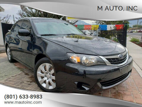 2009 Subaru Impreza for sale at M AUTO, INC in Millcreek UT