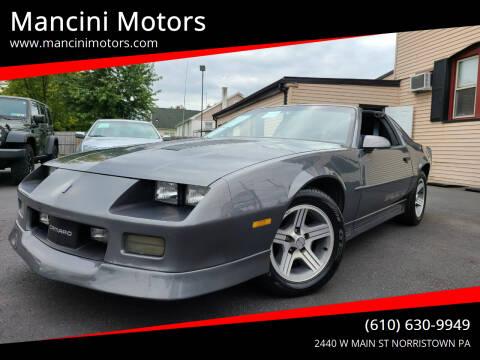 1988 Chevrolet Camaro for sale at Mancini Motors in Norristown PA