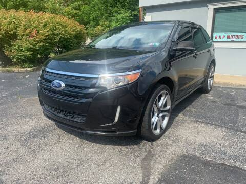 2013 Ford Edge for sale at B & P Motors LTD in Glenshaw PA