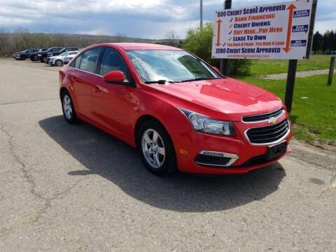 2015 Chevrolet Cruze for sale at Sensible Sales & Leasing in Fredonia NY