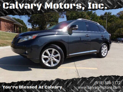 2010 Lexus RX 350 for sale at Calvary Motors, Inc. in Bixby OK