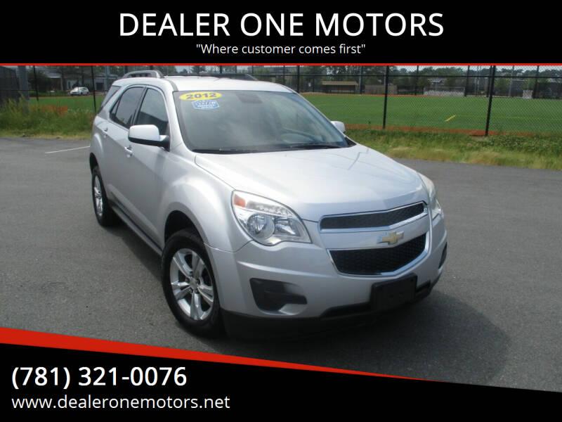 2012 Chevrolet Equinox for sale at DEALER ONE MOTORS in Malden MA
