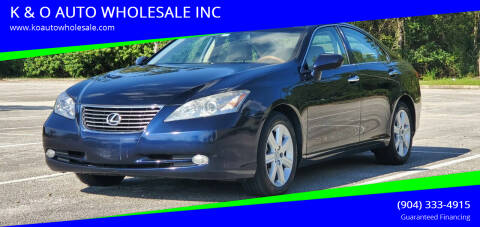 2008 Lexus ES 350 for sale at K & O AUTO WHOLESALE INC in Jacksonville FL