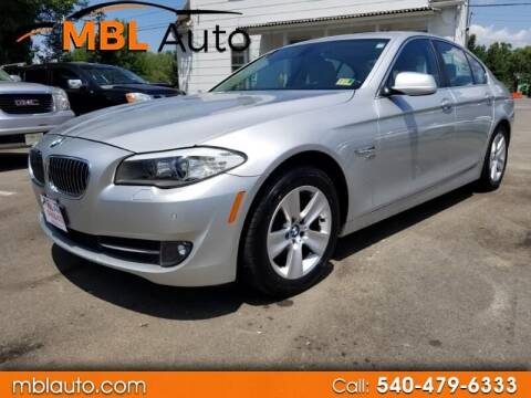 2012 BMW 5 Series for sale at MBL Auto Woodford in Woodford VA