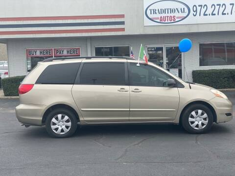 2008 Toyota Sienna for sale at Traditional Autos in Dallas TX