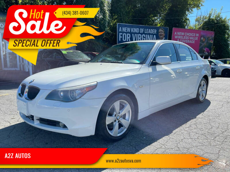 2006 BMW 5 Series for sale at A2Z AUTOS in Charlottesville VA