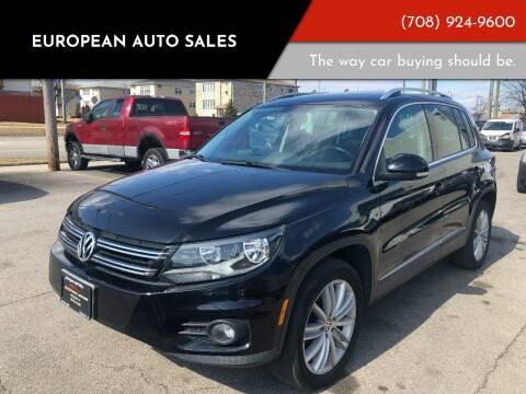2012 Volkswagen Tiguan for sale at European Auto Sales in Bridgeview IL