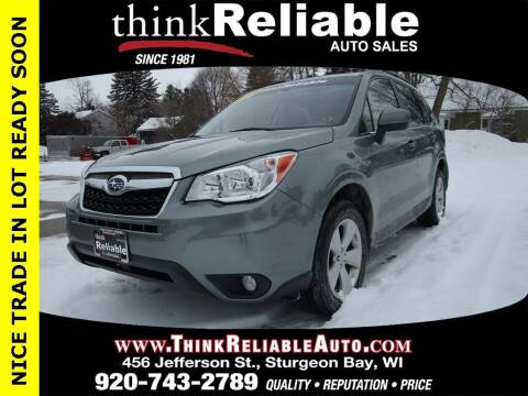 2016 Subaru Forester for sale at RELIABLE AUTOMOBILE SALES, INC in Sturgeon Bay WI