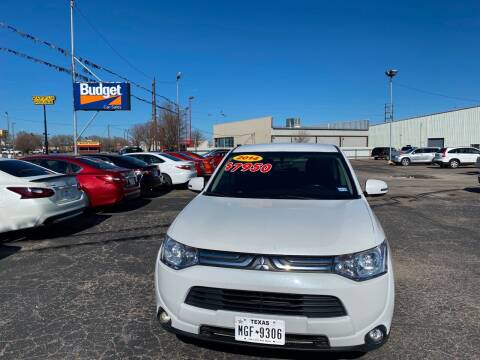 2014 Mitsubishi Outlander for sale at BUDGET CAR SALES in Amarillo TX