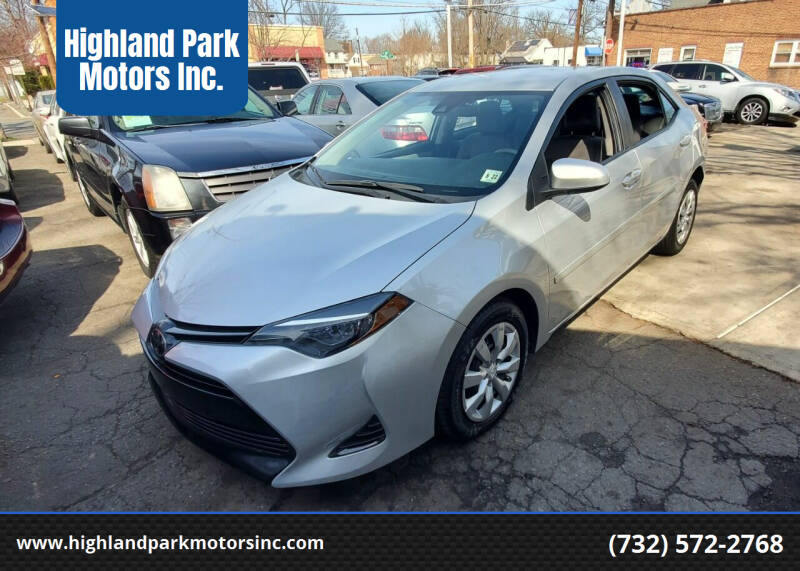 2017 Toyota Corolla for sale at Highland Park Motors Inc. in Highland Park NJ