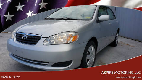 2007 Toyota Corolla for sale at Aspire Motoring LLC in Brentwood NH