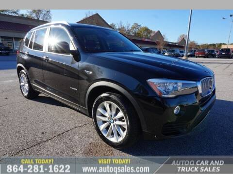 2015 BMW X3 for sale at Auto Q Car and Truck Sales in Mauldin SC