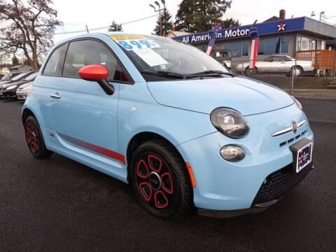 2015 FIAT 500e for sale at All American Motors in Tacoma WA