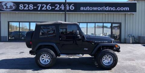 2004 Jeep Wrangler for sale at AutoWorld of Lenoir in Lenoir NC