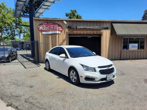 2016 Chevrolet Cruze Limited for sale at Rent To Own Auto Showroom LLC - Finance Inventory in Modesto CA
