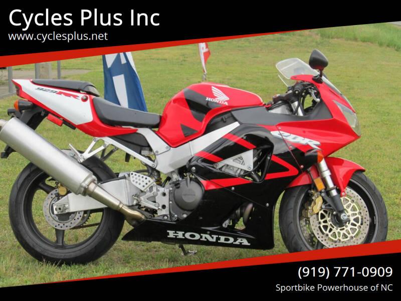 2001 Honda CBR 929RR for sale at Cycles Plus Inc in Garner NC