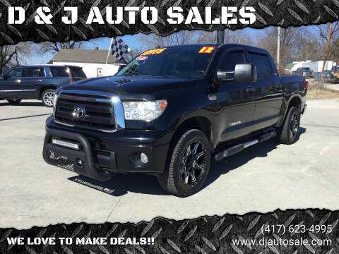 2012 Toyota Tundra for sale at D & J AUTO SALES in Joplin MO