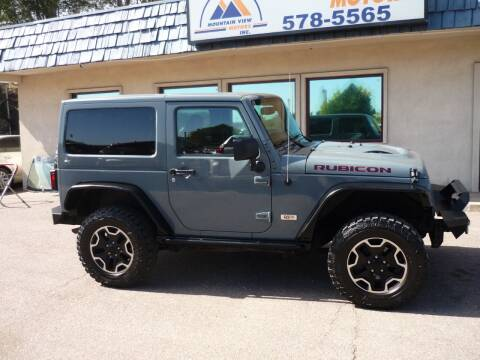 2013 Jeep Wrangler for sale at Mountain View Motors Inc in Colorado Springs CO