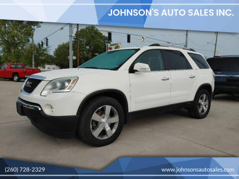 2012 GMC Acadia for sale at Johnson's Auto Sales Inc. in Decatur IN