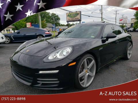 2015 Porsche Panamera for sale at A-Z Auto Sales in Newport News VA