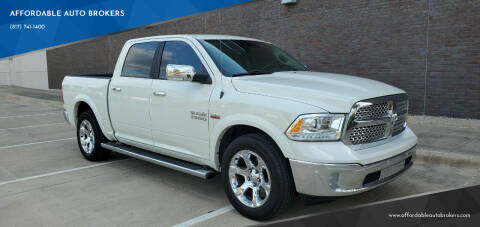 2018 RAM Ram Pickup 1500 for sale at AFFORDABLE AUTO BROKERS in Keller TX