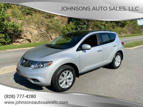 2013 Nissan Murano for sale at Johnsons Auto Sales, LLC in Marshall NC