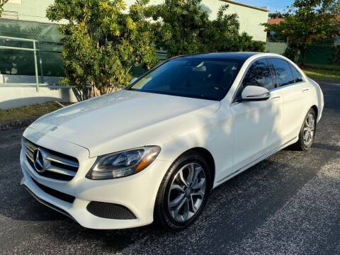2016 Mercedes-Benz C-Class for sale at Meru Motors in Hollywood FL