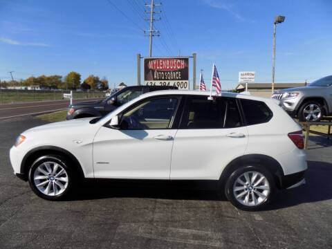 2013 BMW X3 for sale at MYLENBUSCH AUTO SOURCE in O` Fallon MO