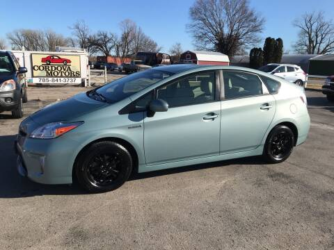 2013 Toyota Prius for sale at Cordova Motors in Lawrence KS