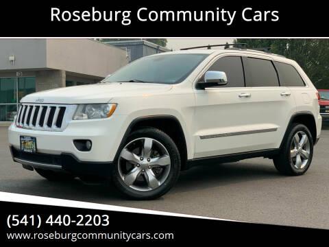 2011 Jeep Grand Cherokee for sale at Roseburg Community Cars in Roseburg OR
