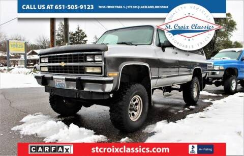 1991 Chevrolet Suburban for sale at St. Croix Classics in Lakeland MN