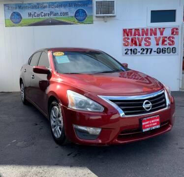 2013 Nissan Altima for sale at Manny G Motors in San Antonio TX