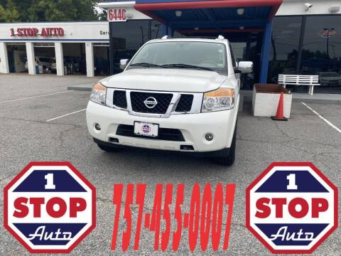 2013 Nissan Armada for sale at 1 Stop Auto in Norfolk VA