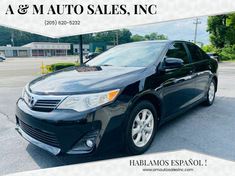 2012 Toyota Camry for sale at A & M Auto Sales, Inc in Alabaster AL
