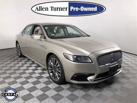 2017 Lincoln Continental for sale at Allen Turner Hyundai in Pensacola FL