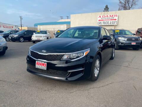 2016 Kia Optima for sale at Adams Auto Sales in Sacramento CA