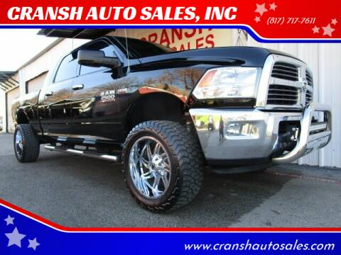 2013 RAM Ram Pickup 2500 for sale at CRANSH AUTO SALES, INC in Arlington TX