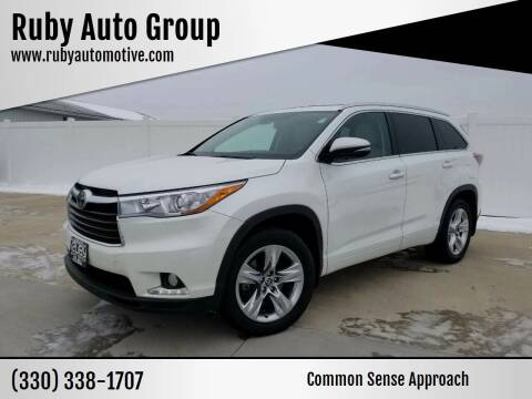 2016 Toyota Highlander for sale at Ruby Auto Group in Hudson OH