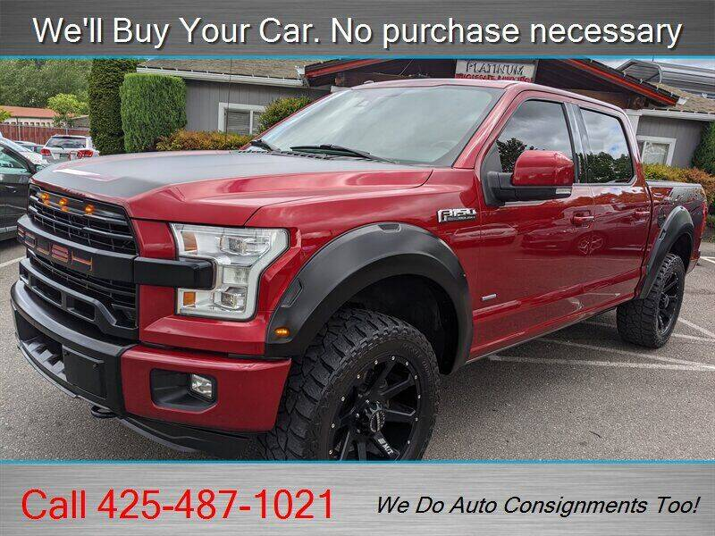 2016 Ford F-150 for sale at Platinum Autos in Woodinville WA
