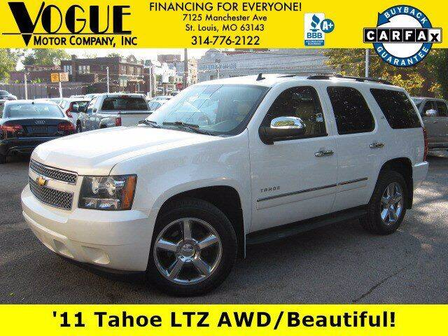 2011 Chevrolet Tahoe for sale at Vogue Motor Company Inc in Saint Louis MO