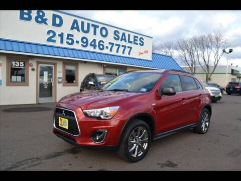 2013 Mitsubishi Outlander Sport for sale at B & D Auto Sales Inc. in Fairless Hills PA